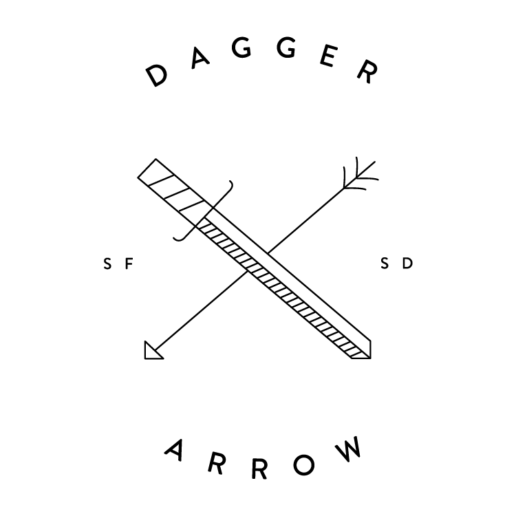 Picture of arrow clip art black and white library Dagger & Arrow clip art black and white library