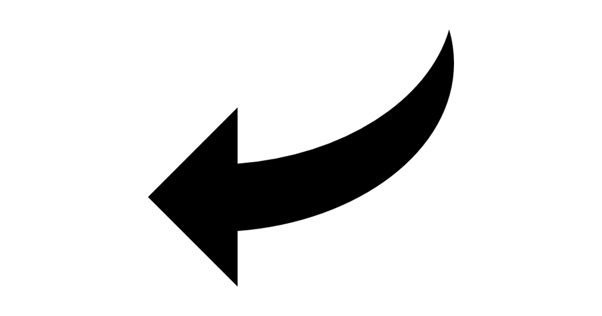 Picture of arrow pointing left banner library stock Curve Arrow Pointing Left - Free arrows icons banner library stock