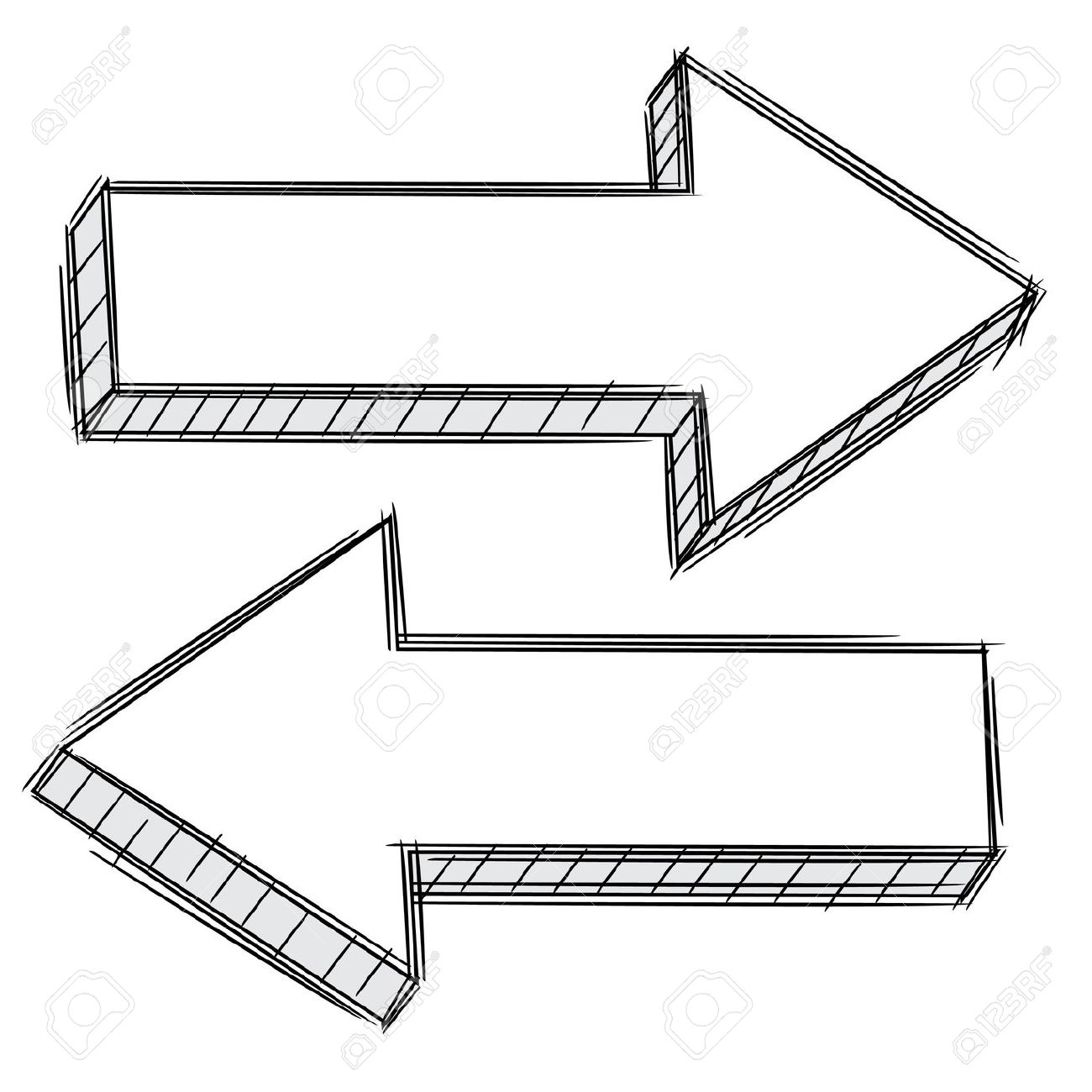 Picture of arrow pointing left clip art royalty free Doodle Of Arrow Pointing Left And Right Royalty Free Cliparts ... clip art royalty free