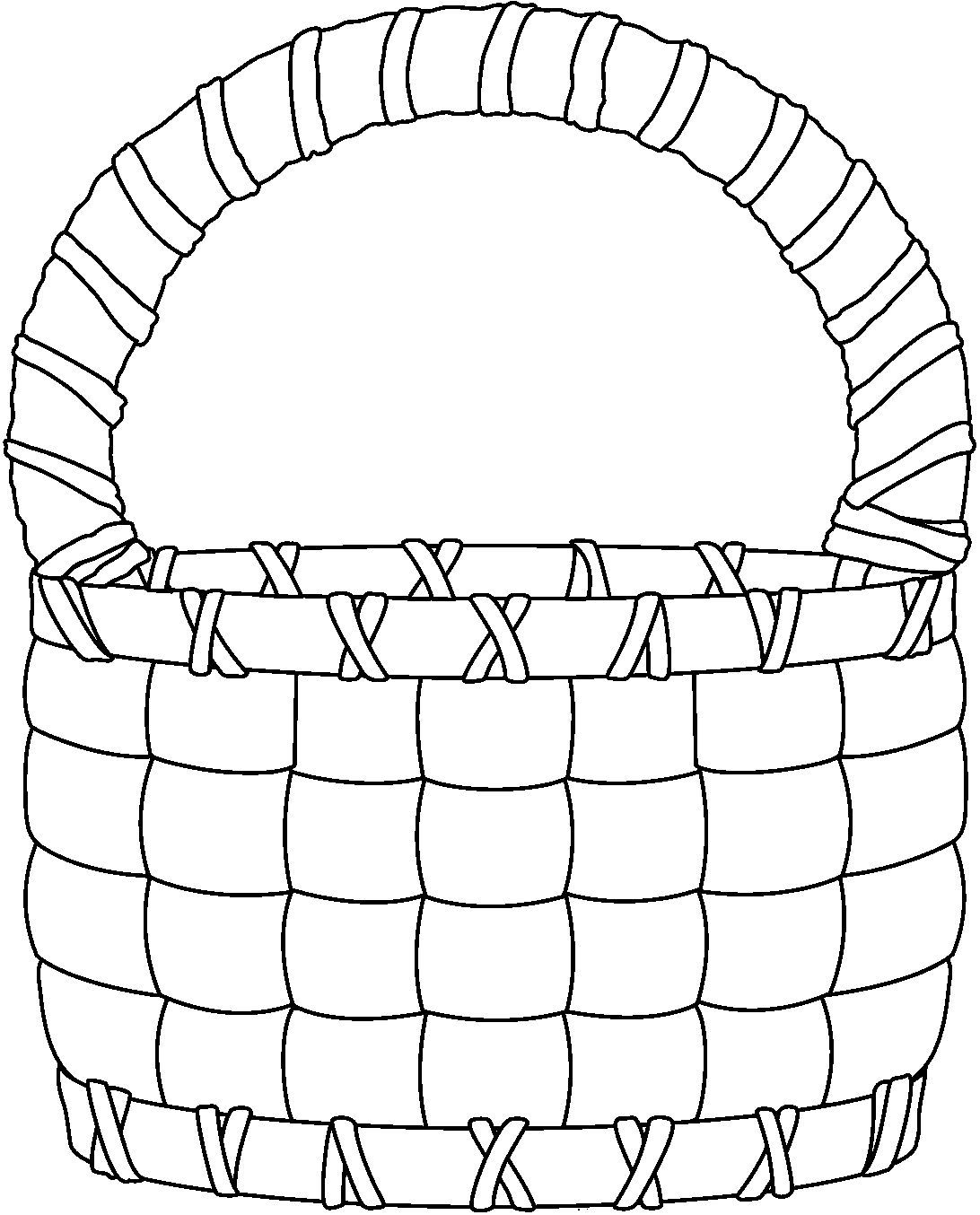 Picture of basket black and white clipart black and white stock Basket black and white clipart 3 » Clipart Portal black and white stock