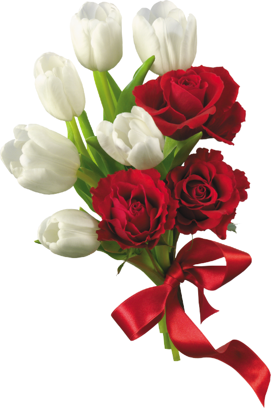 Clipart flower bouquet png download White Tulips and Red Roses Flower Bouquet PNG Clipart | Dream ... png download