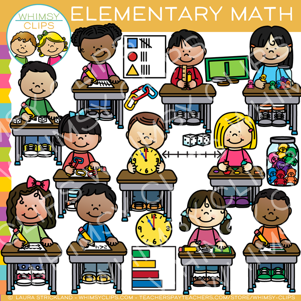 Picture of boy learning with manipulatives clipart jpg free download Elementary Kids Math Clip Art jpg free download