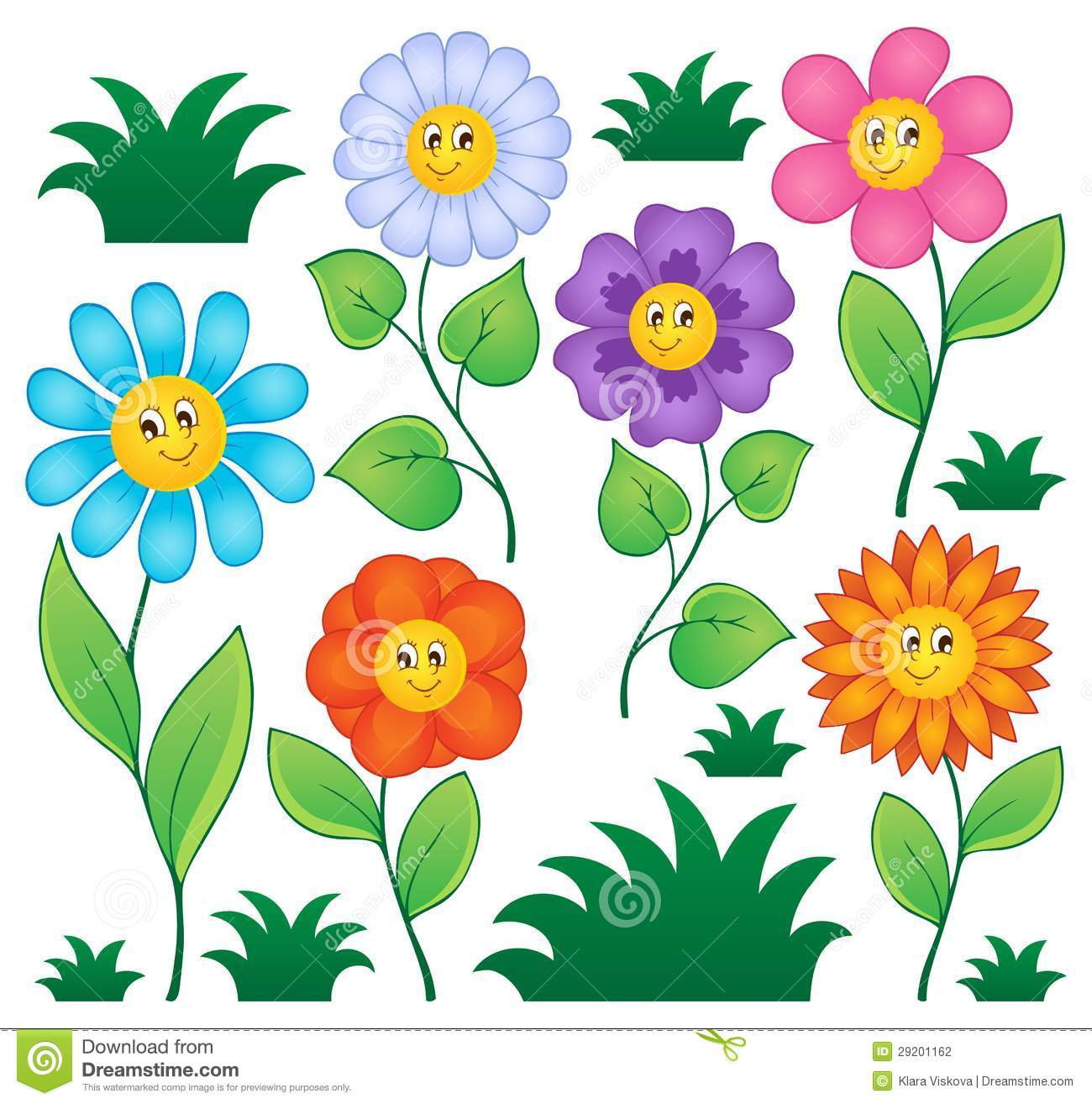 Picture of cartoon flowers picture library download Cartoon Flowers Collection Stock Photography - Image: 29201162 picture library download
