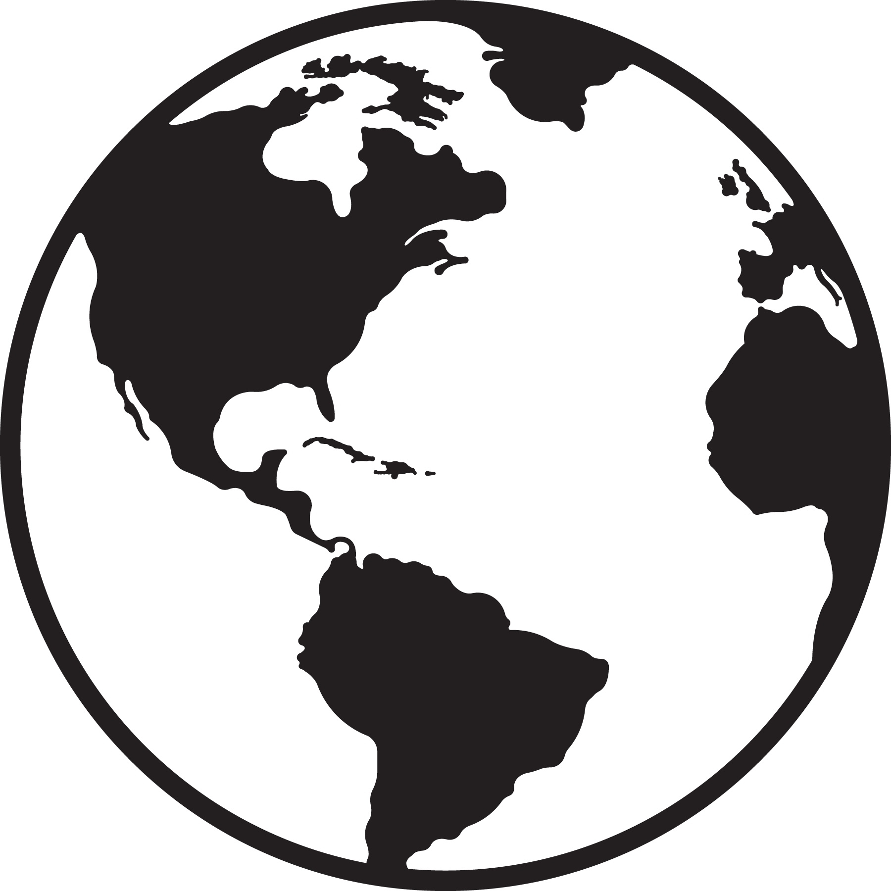 Picture of earth clipart black and white image library stock Earth clipart black and white Awesome Globe Clipart Black ... image library stock