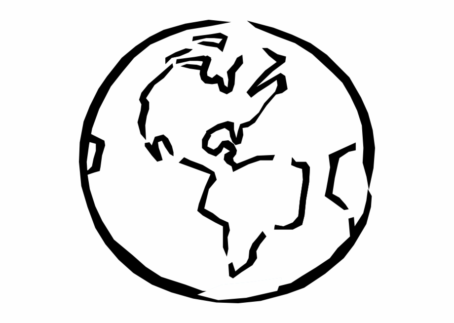 Picture of earth clipart black and white clipart black and white stock Black And White Earth Clip Art At Clipartimage - Black And ... clipart black and white stock