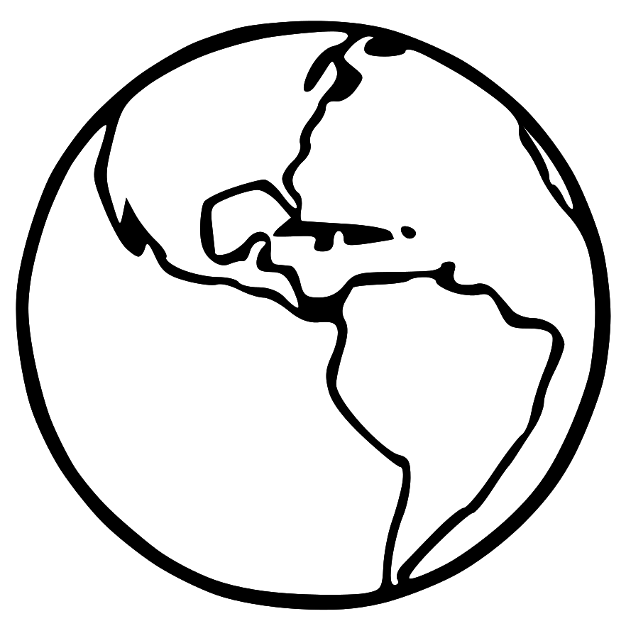 Globe clipart outline png Black and white earth clipart clipart collection globe black ... png