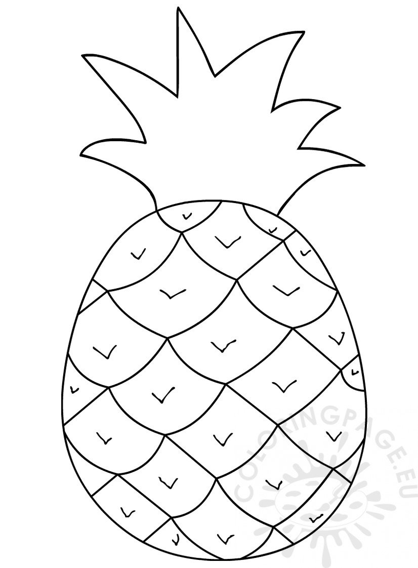 Picture of pineapple clipart black and white banner freeuse download Pineapple clipart black and white – Coloring Page banner freeuse download