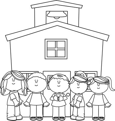 Picture of school clipart black and white picture freeuse download Free Black School Cliparts, Download Free Clip Art, Free ... picture freeuse download
