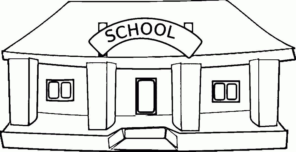 School image clipart black and white png free School Clipart Black And White | Https://momogicars with ... png free