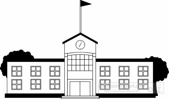 School image clipart black and white clipart library library School Clipart Black And White School Building Clipart Black ... clipart library library