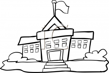 Picture of school clipart black and white vector transparent library Black And White School Clipart | Free download best Black ... vector transparent library