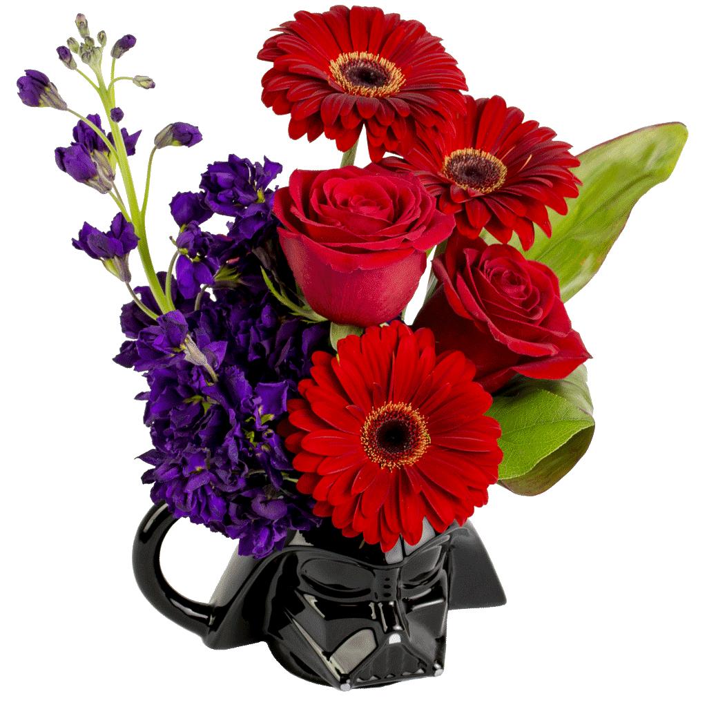 Picture offlowers vector freeuse stock Star Wars Darth Vader Flower Mug designed by Karin's Florist vector freeuse stock