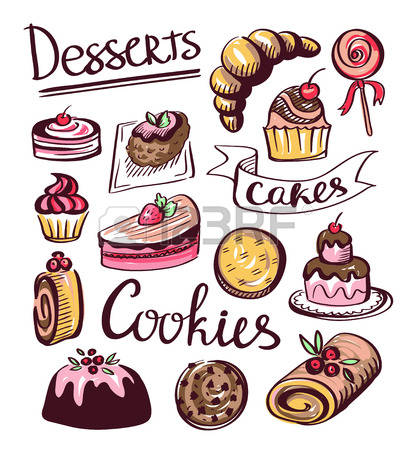 Pictures of baked goods clipart