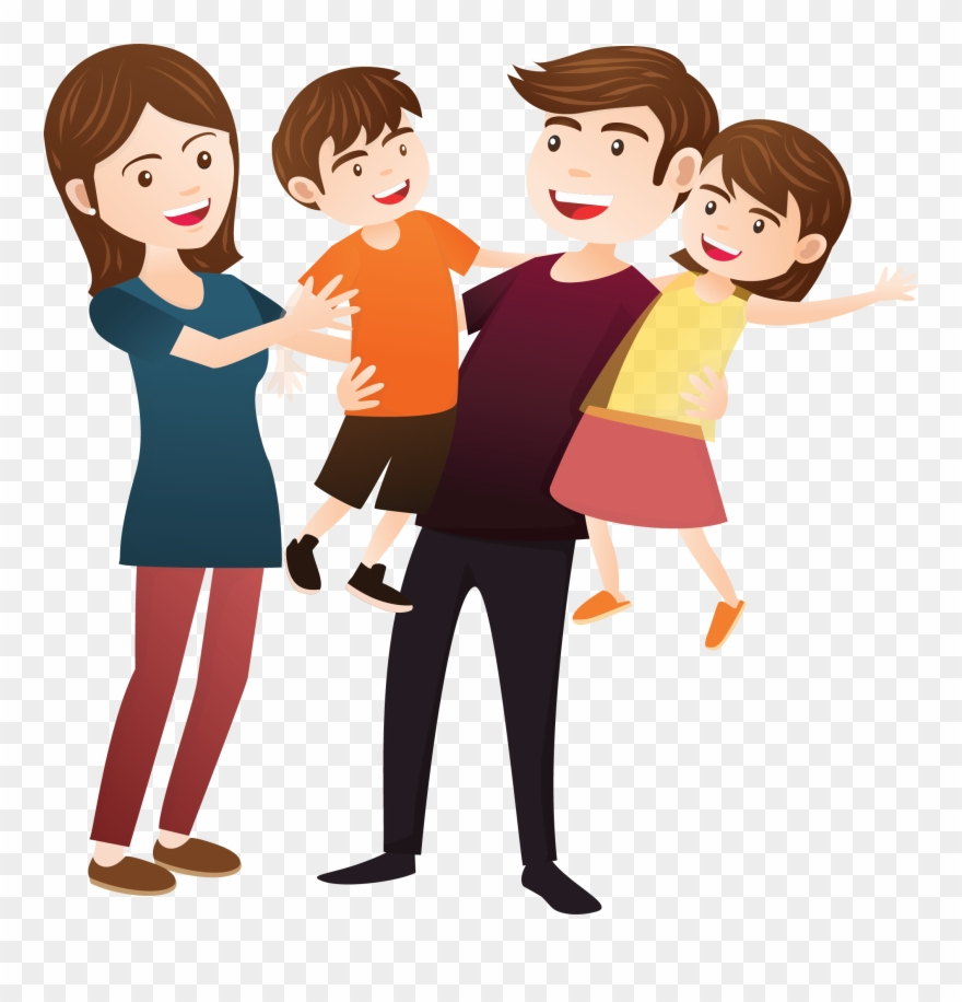 Working together happy family clipart png freeuse Family - Transparent Happy Family Clipart - Png Download ... png freeuse
