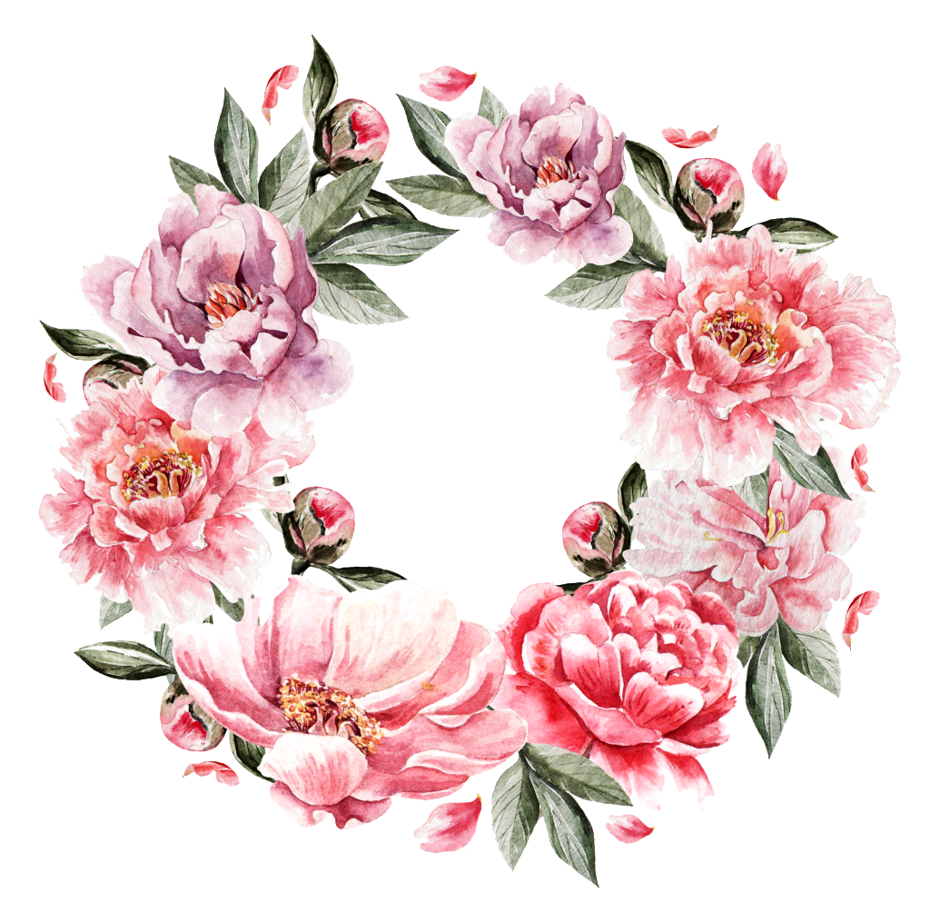 Pictures of flowers bouquet free picture freeuse Flower bouquet Painting - Pink roses ring 1024*1004 transprent Png ... picture freeuse