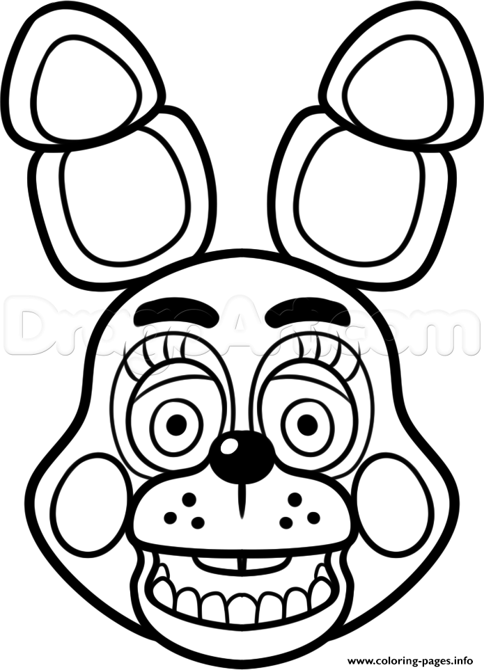 Pictures of foxy & mangle clipart no coloring svg freeuse stock Print mangle golden freddy face fnaf coloring pages ... svg freeuse stock