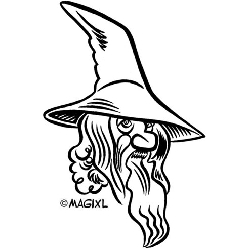 Pictures of gandalf from the hobbit clipart black and white download Gandalf Clipart - Clip Art Library black and white download