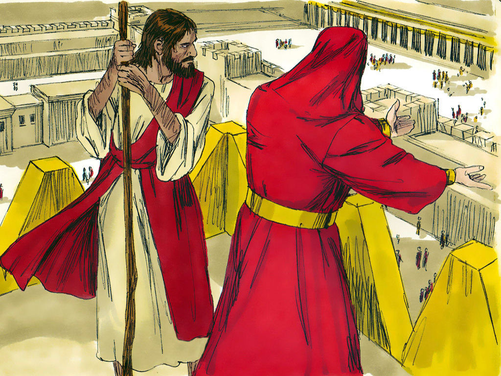 Pictures of jesus being tempted by satan clipart clipart black and white FreeBibleimages :: Jesus is tempted in the wilderness ... clipart black and white