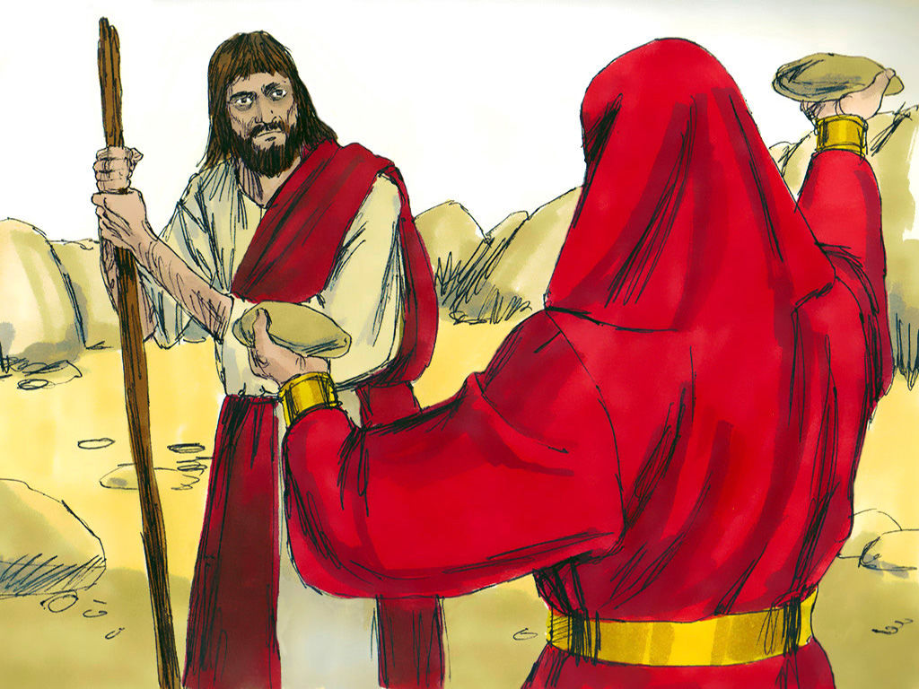 Pictures of jesus being tempted by satan clipart svg black and white library FreeBibleimages :: Jesus is tempted in the wilderness ... svg black and white library