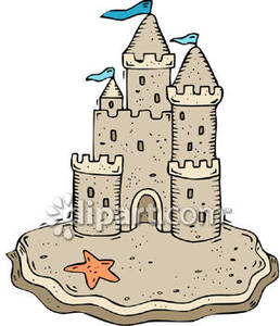 Pictures of sandcastles clipart royalty free Sand Castle on the Beach - Royalty Free Clipart Picture royalty free