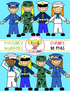 Pictures of uniforms for branches of military clipart vector freeuse library Military Clip Art & Worksheets | Teachers Pay Teachers vector freeuse library