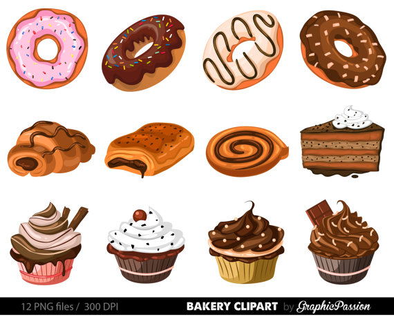 Pie and cake clipart vector freeuse library Bakery Clipart Cake Clip art Pie clip art Ginger house ... vector freeuse library
