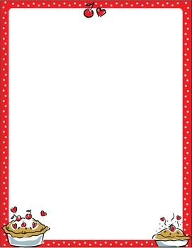 Pie border clipart jpg library library Strawberry Pie Stationery Stationery   stationery/borders ... jpg library library