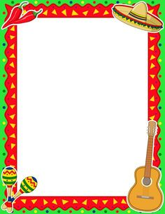 Pie border clipart clip art library library Royalty Free Clipart Image of a Mexican Themed Border - Clip ... clip art library library