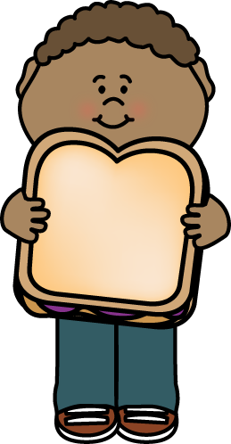 Pieces of a peanut butter and jelly sandwich clipart clip art black and white Kid with Peanut Butter and Jelly Sandwich Clip Art - Kid ... clip art black and white