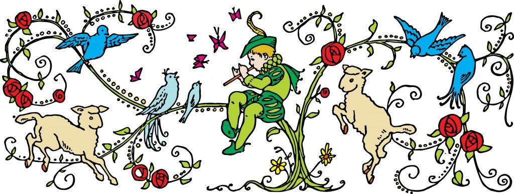 Pied piper clipart clip art free stock Vintage Children\'s Book Clipart Image - Pied Piper ... clip art free stock