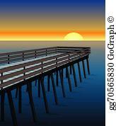 Pier clipart freeuse Pier Clip Art - Royalty Free - GoGraph freeuse