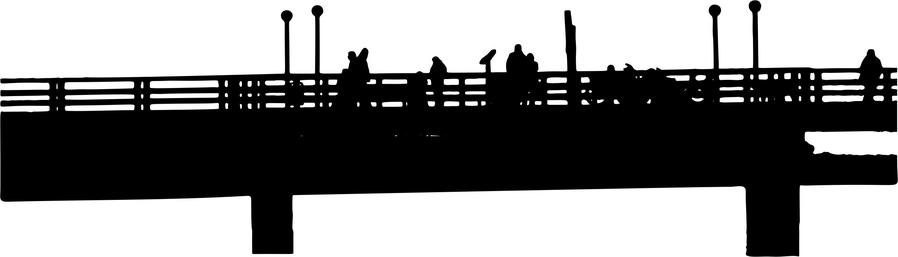Pier clipart graphic royalty free download Silhouette, Drawing, Line, Font, Rectangle png clipart free ... graphic royalty free download