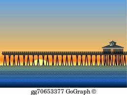 Pier clipart banner free library Pier Clip Art - Royalty Free - GoGraph banner free library