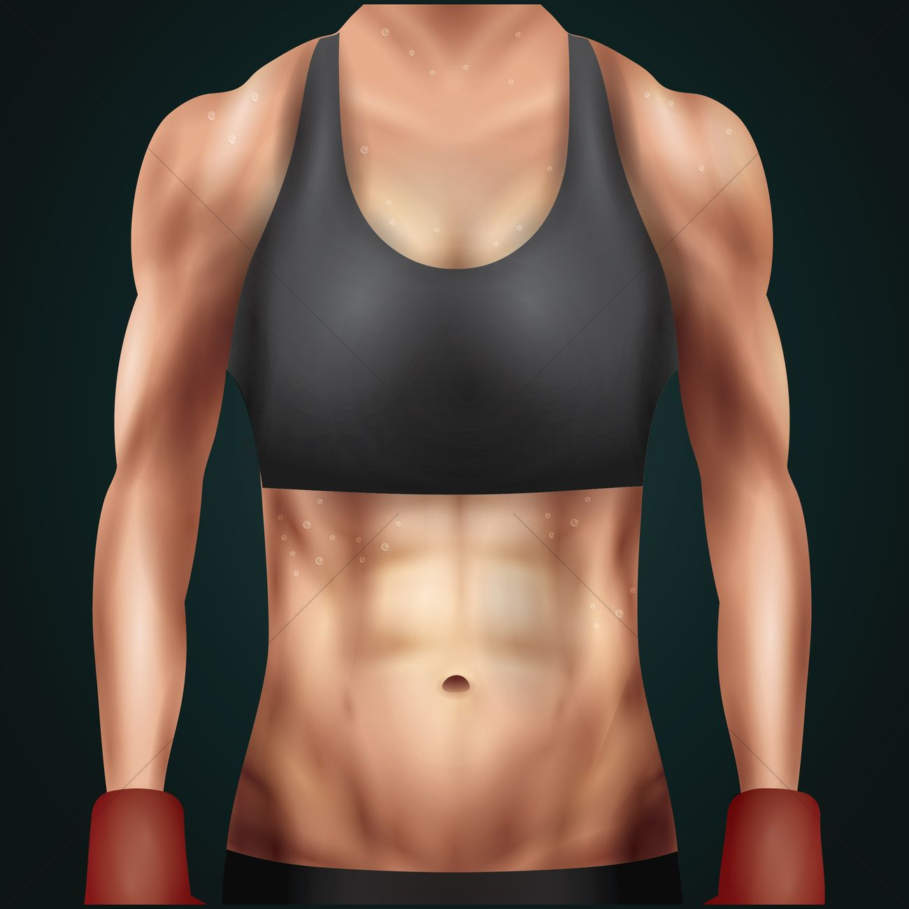 Pierre clipart abs image black and white library Fitness woman showing abs Vector Image - 1810555 ... image black and white library