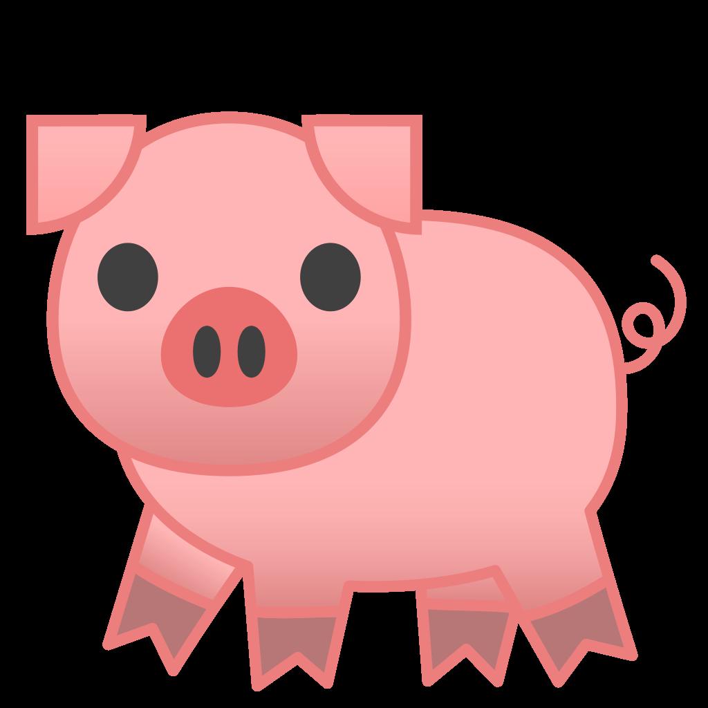 Pig and apple tree clipart clipart transparent Pig Icon | Noto Emoji Animals Nature Iconset | Google clipart transparent