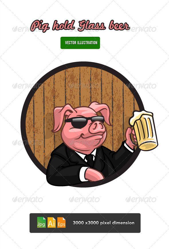 Pig drinking beer clipart svg stock Pin de deborah martinez20 en Vectors | Beer, Glass y Drinks svg stock