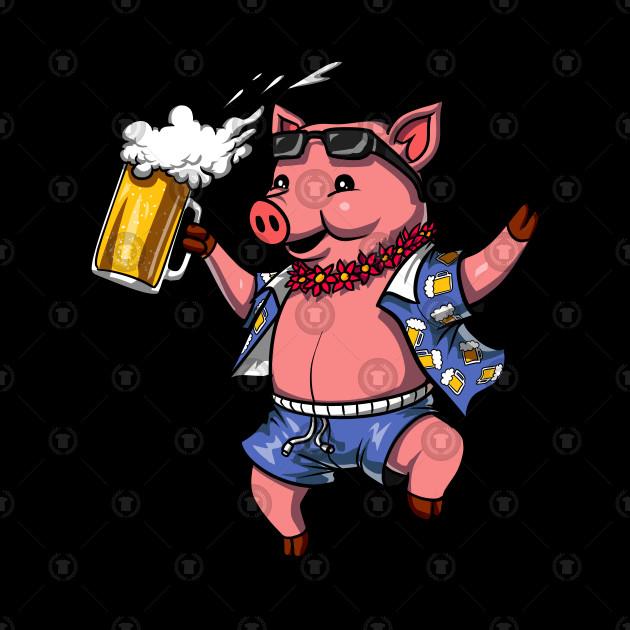 Pig drinking beer clipart jpg freeuse download Pig Wine Drinking Lover Funny Farm Pork jpg freeuse download