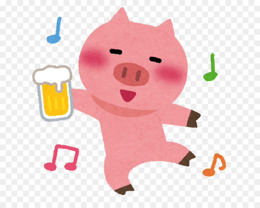 Pig drinking beer clipart library Person Cartoon png download - 714*714 - Free Transparent ... library