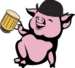 Pig drinking beer clipart png download The Civil Life Brewing Company Presents Pigs & Pints | STL ... png download