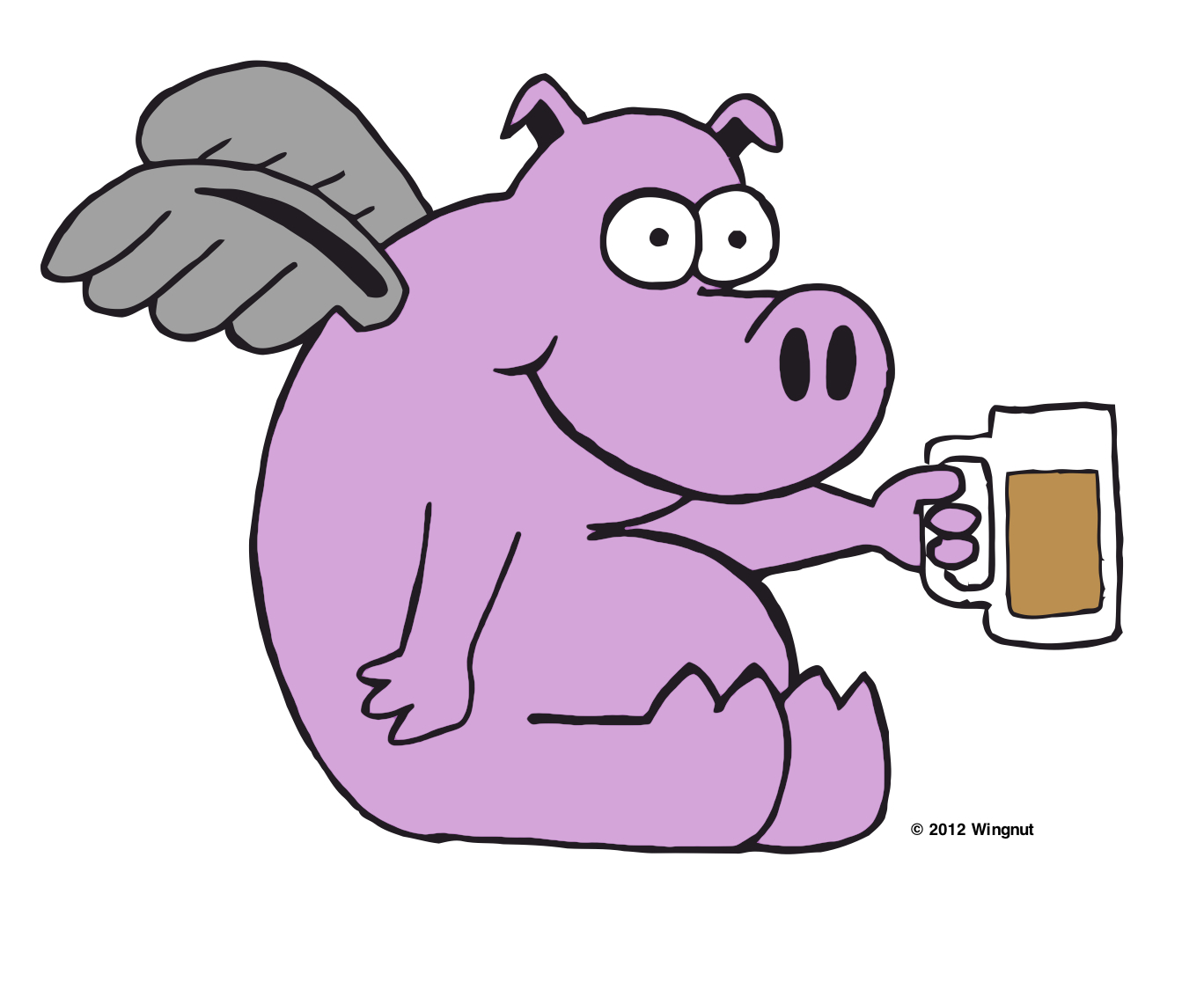 Pig drinking beer clipart svg freeuse Pig Naming, Continued… | beerbecue svg freeuse