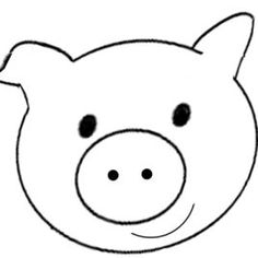 Pig face clipart black and white svg freeuse stock Pig face clipart black and white 4 » Clipart Station svg freeuse stock