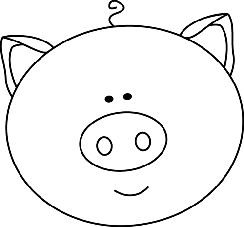 Pig face clipart black and white svg black and white stock Free Pig Clipart Black And White, Download Free Clip Art ... svg black and white stock