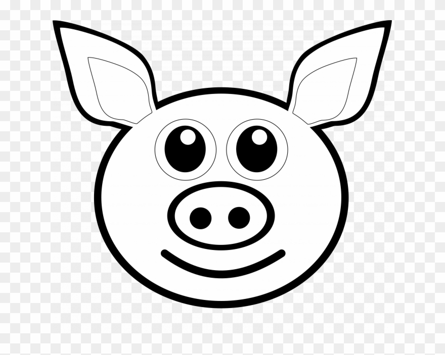 Pig face clipart black and white image royalty free download Black And White Stock Eyes Clipart Pig - Drawing Of Pig Face ... image royalty free download