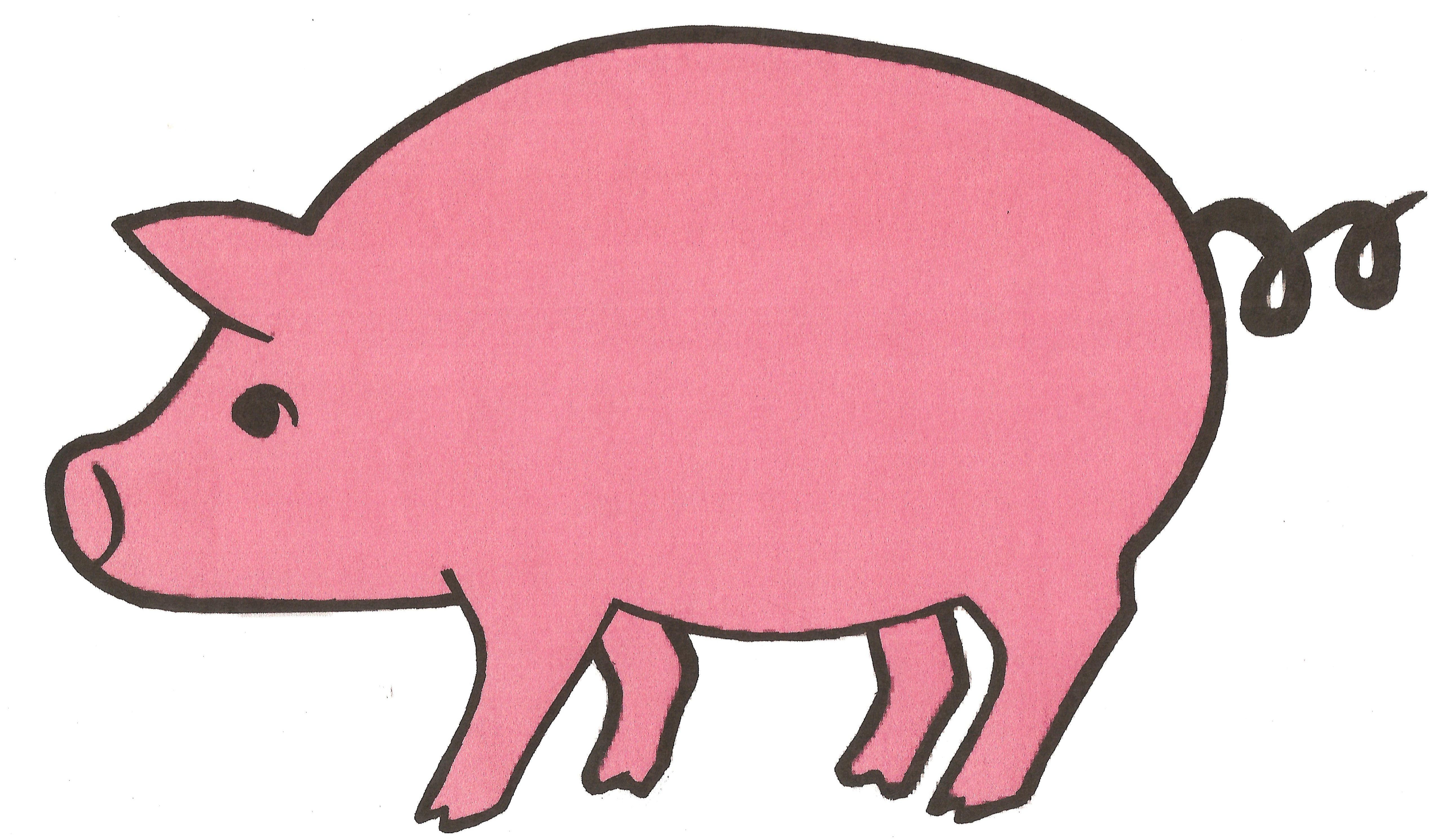 Pig head side view clipart banner black and white download Free Pink Pig Cliparts, Download Free Clip Art, Free Clip ... banner black and white download