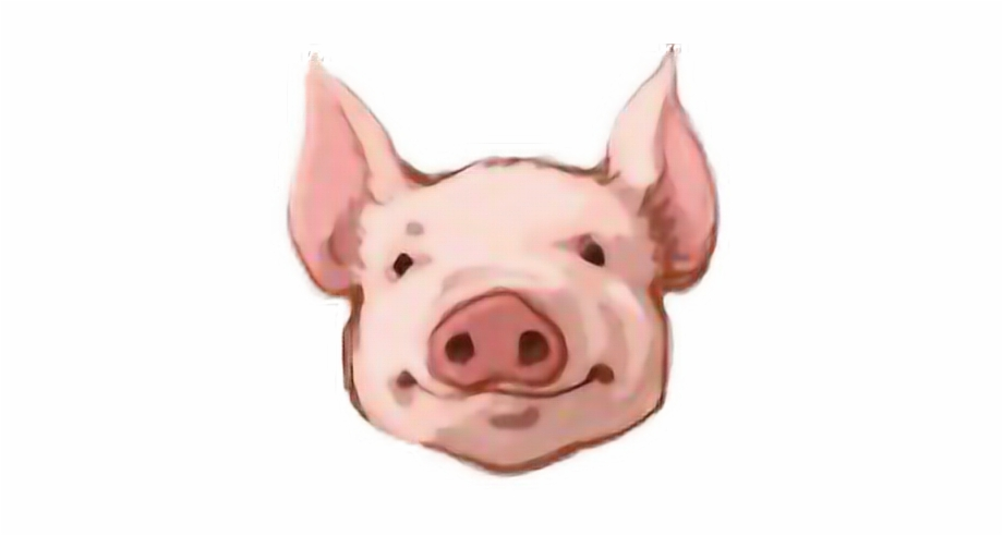 Pig head side view clipart clip art royalty free download pig #head #smile #pink#freetoedit - Transparent Pig Head ... clip art royalty free download