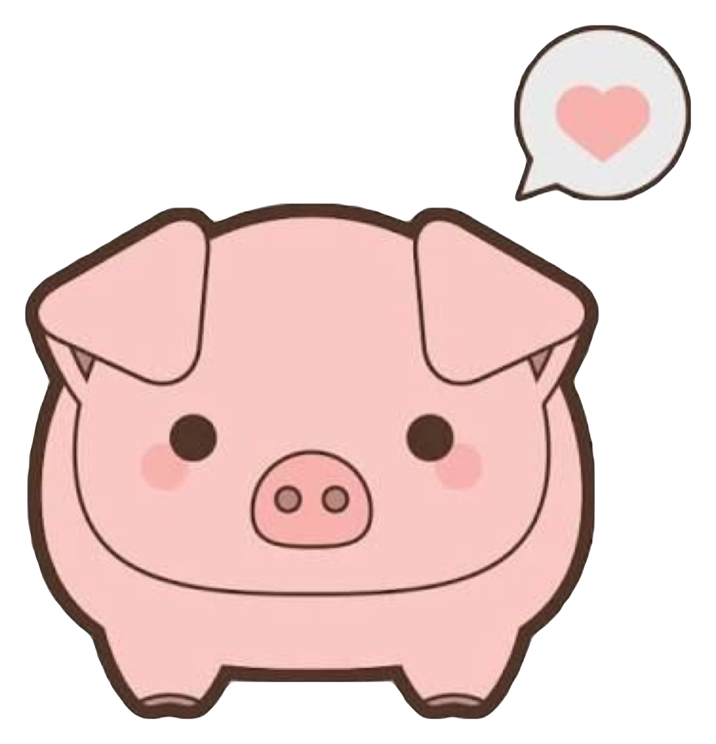 Pig heart clipart clip art black and white library pig pink cute kawaii heart mud dirty pork oink animal... clip art black and white library