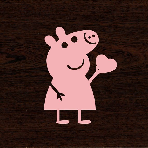 Pig heart clipart graphic library download Peppa Pig svg Peppa Pig Heart svg Peppa svg Pig Heart ... graphic library download