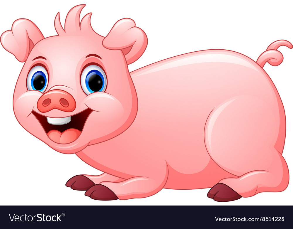 Pig laying down outline clipart vector png clip art freeuse library Cartoon pig lay down clip art freeuse library