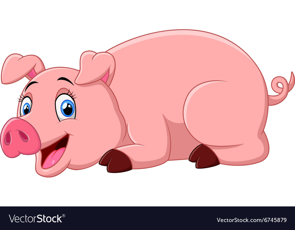 Pig laying down outline clipart vector png picture black and white library Cartoon pig lay down picture black and white library