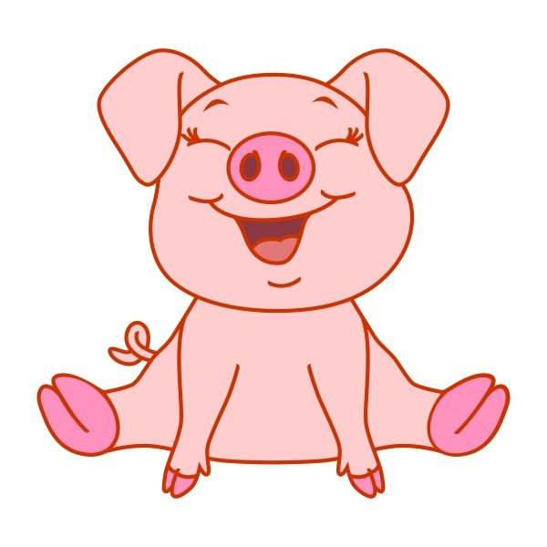 Pig laying down outline clipart vector png vector stock Pin by CuttableDesigns on Animals | Cute baby pigs, Pig ... vector stock